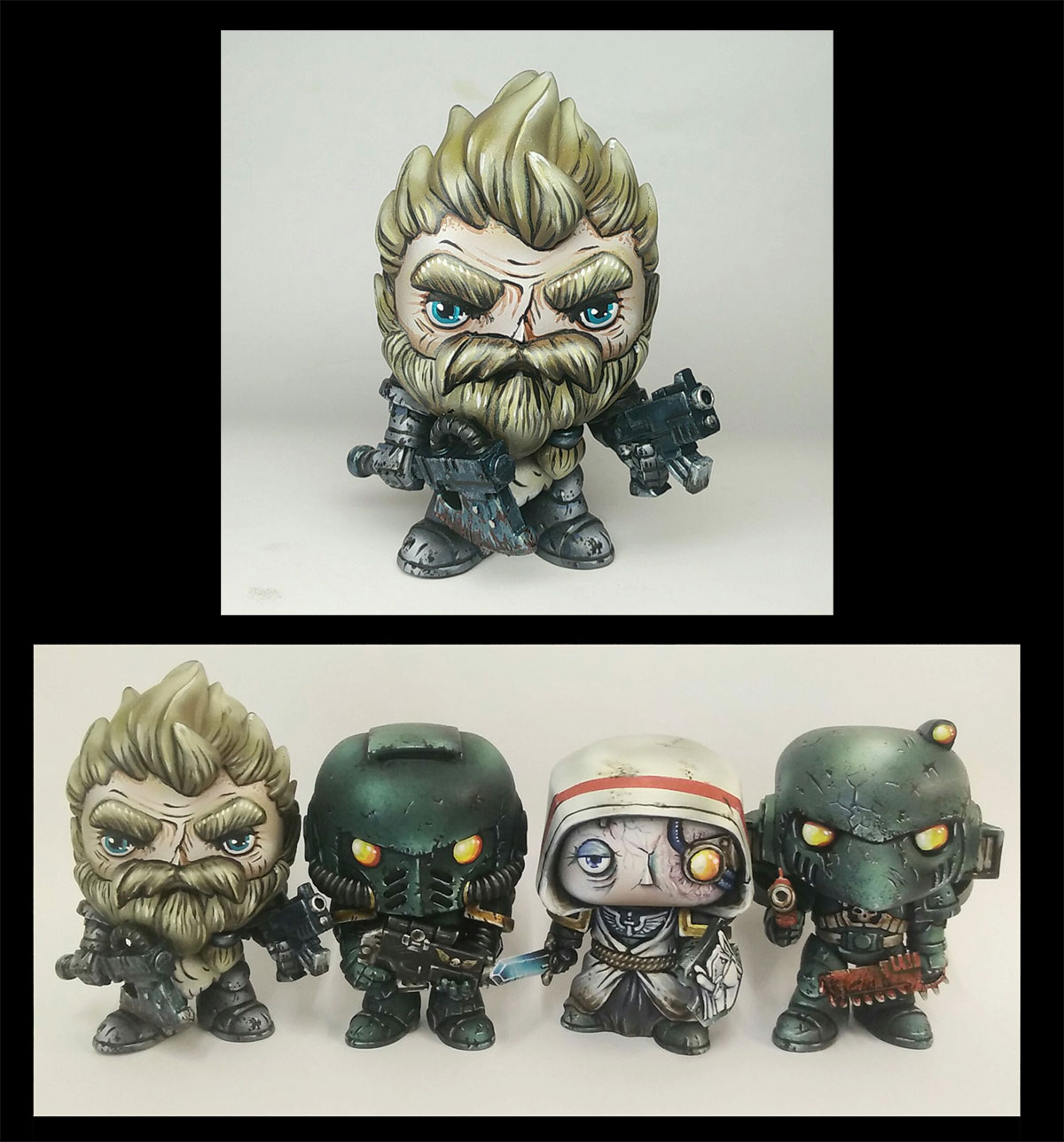 Custom Funko Pop! Space Wolf Space Marine