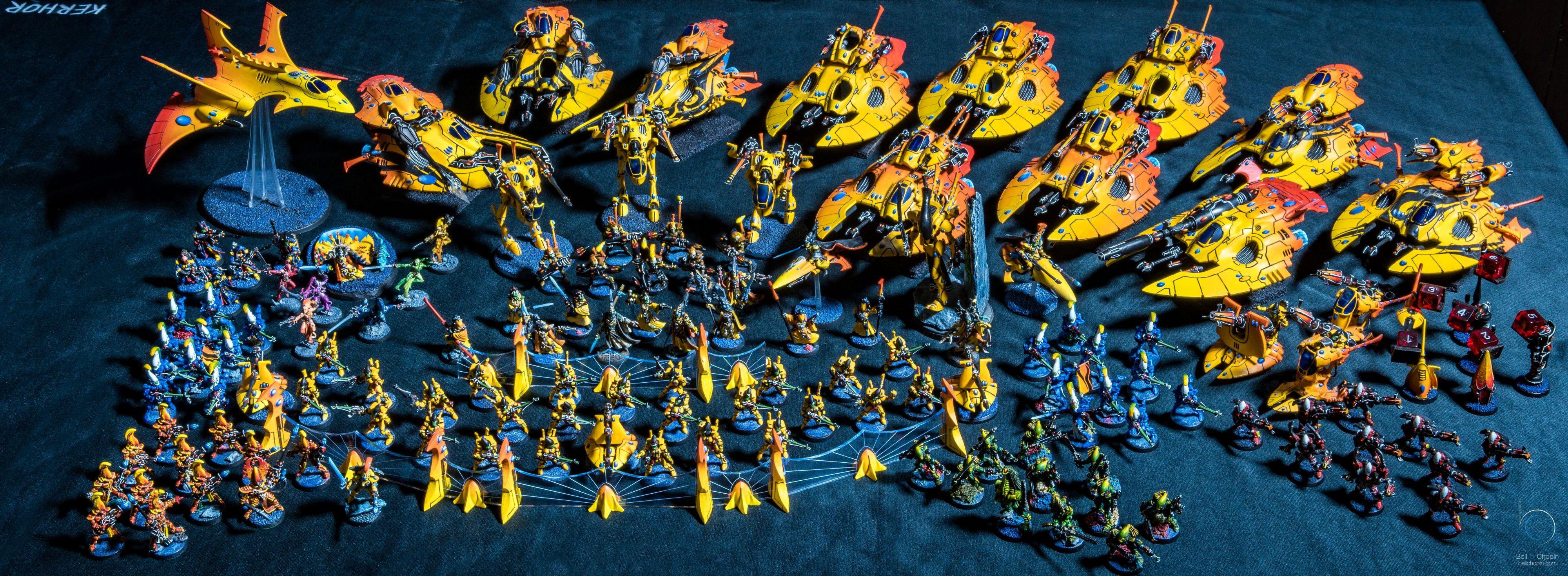 Eldar army Aeldari yellow