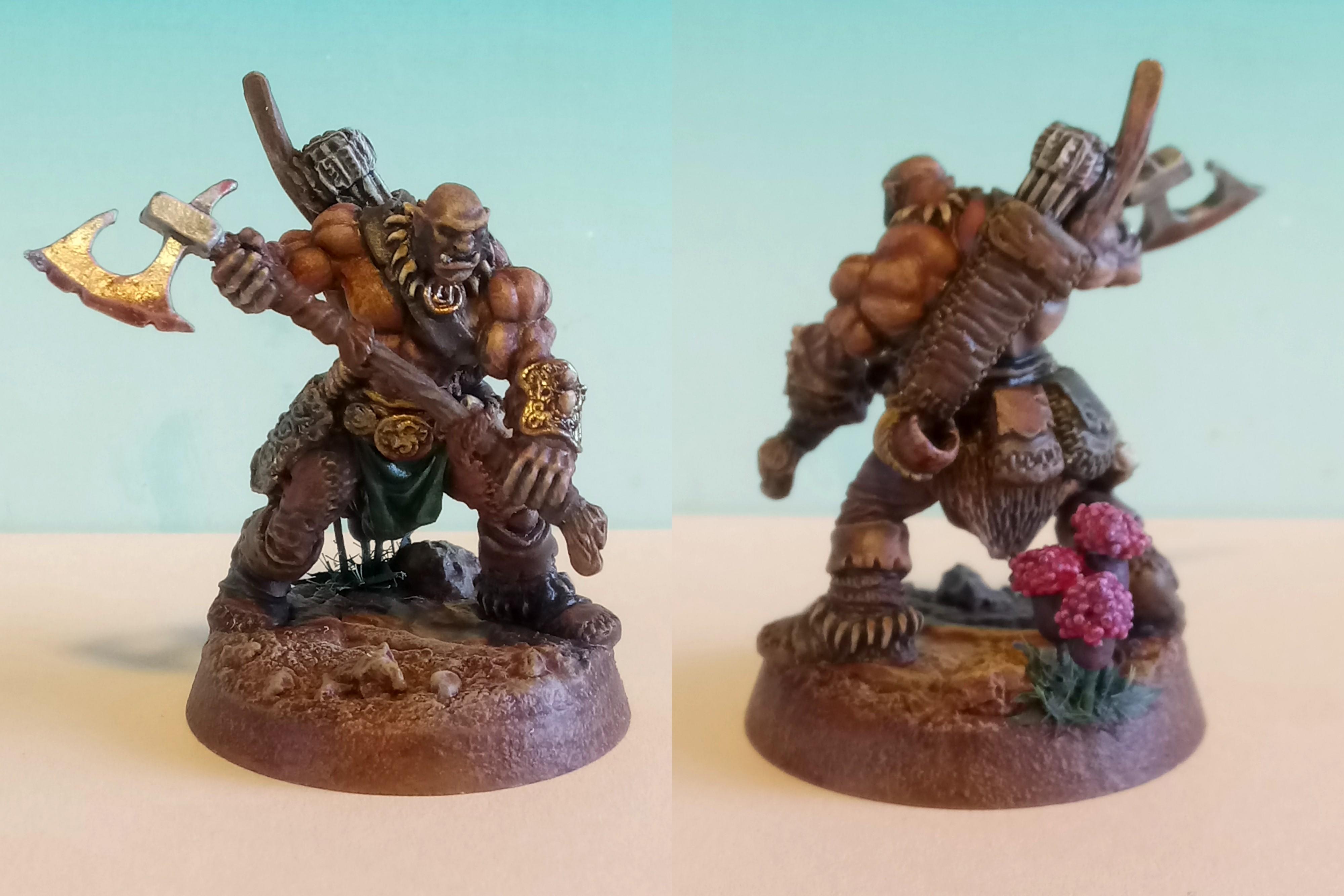 Reaper Miniatures - Thelgar Halfblood, Half-Orc Barbarian
