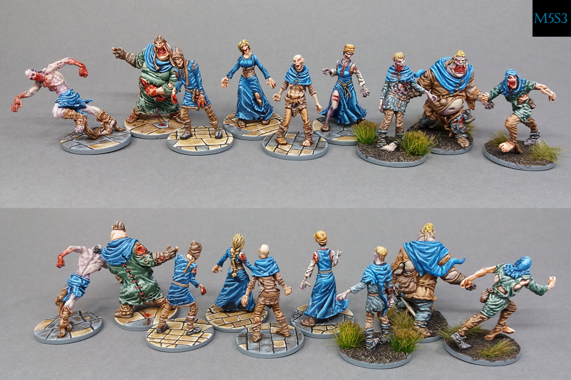 Zombicide BP - Team Blue (Walkers, Runners and Fatties)