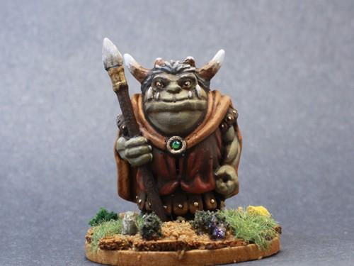 Dragonlock Goblin with Spear 3d print resin