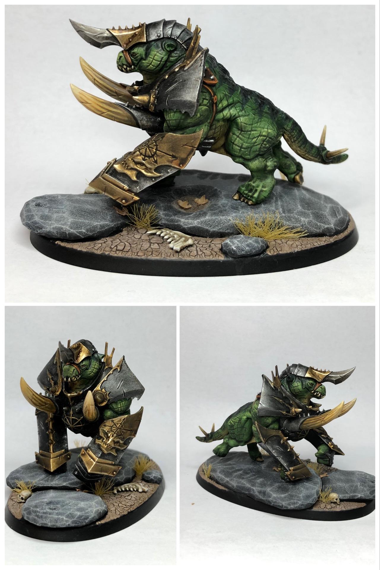 Warhammer Chaos Gorebeast Converted Daemonic Mount