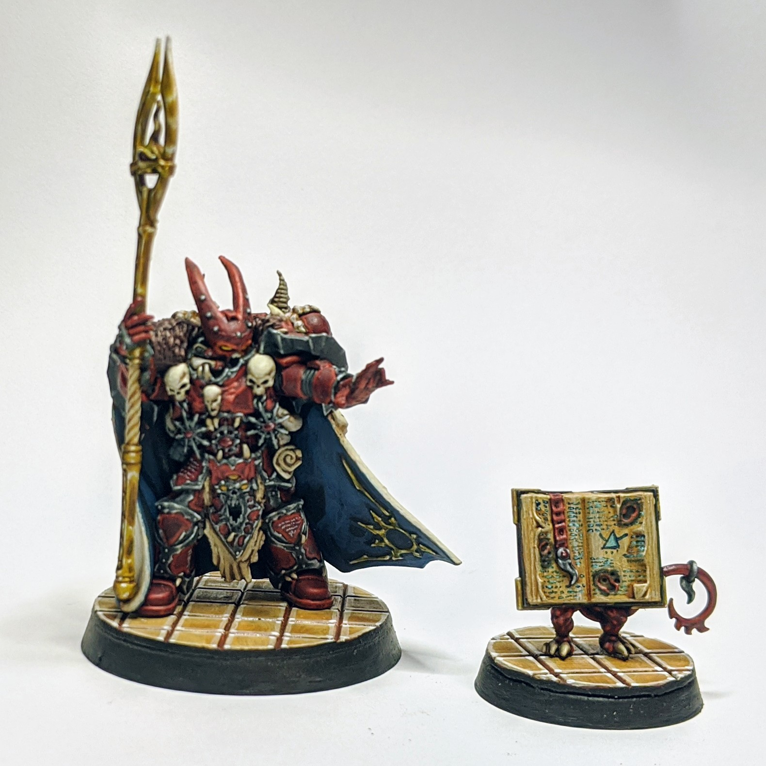 Word Bearers Sorcerer with force stave and familiar