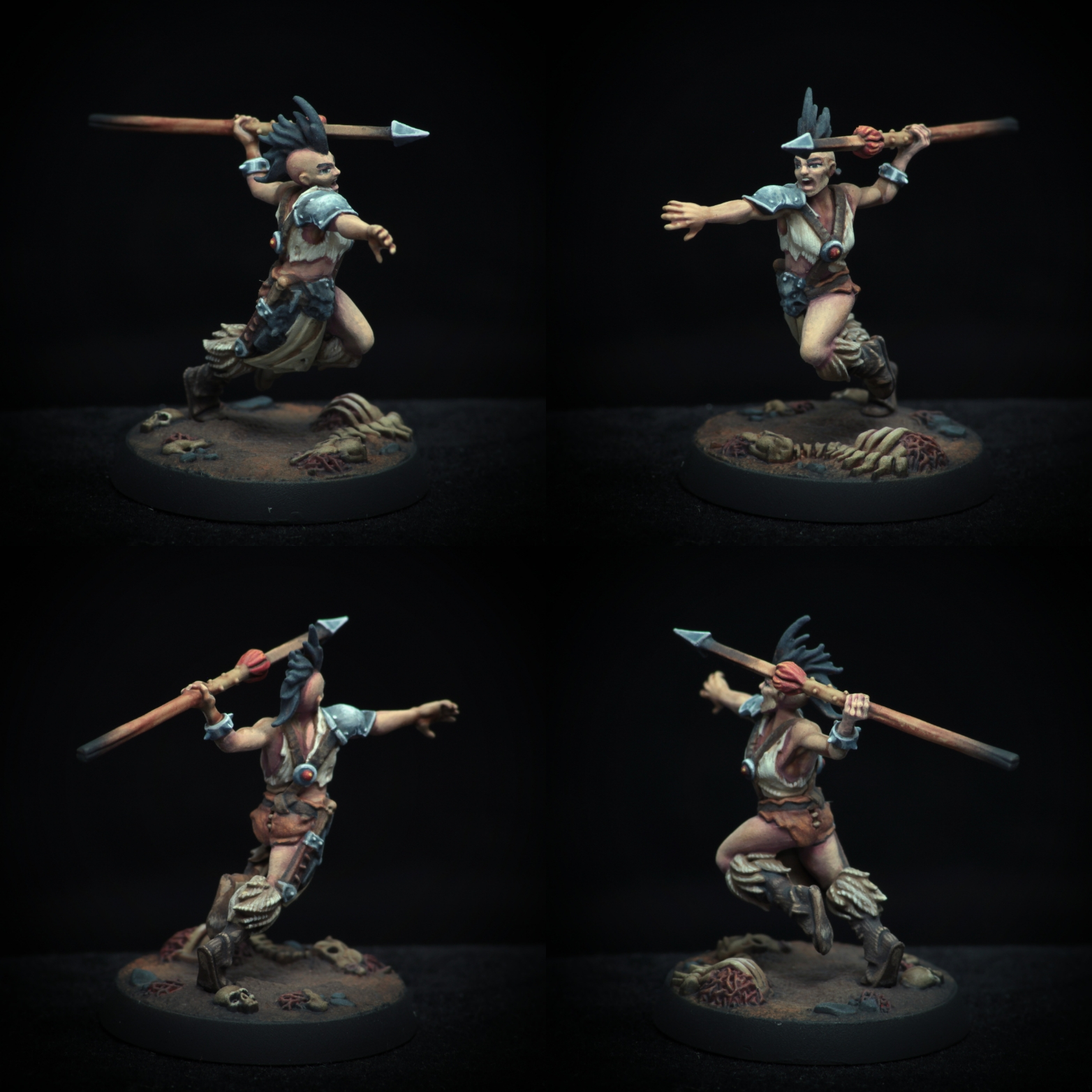 Barbarian with spear