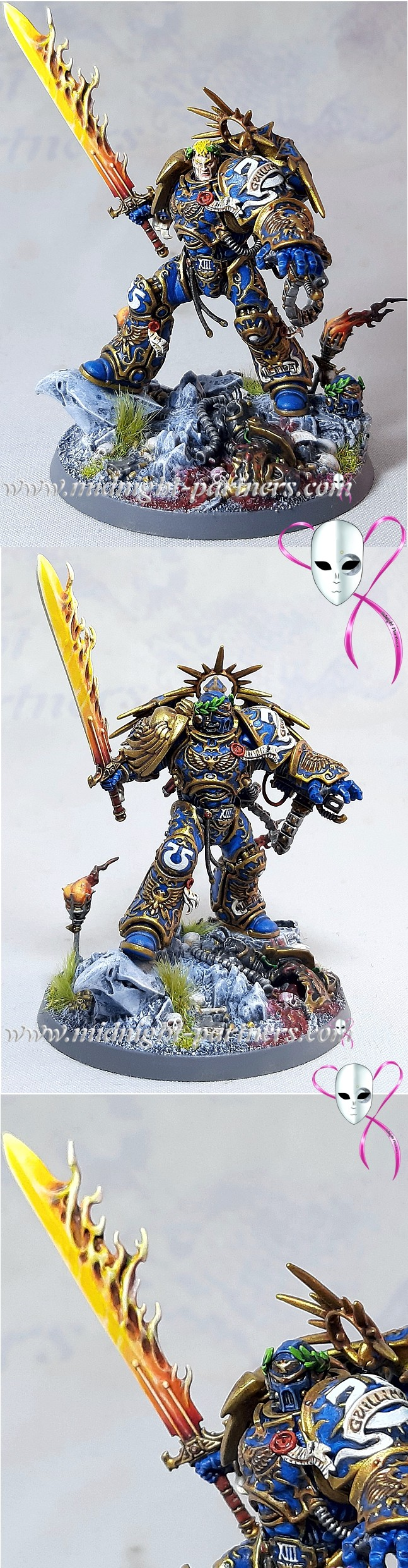 Roboute Gulliman Primarch of the Ultramarines Chapter and Lord Regent of the Imperium of Men.