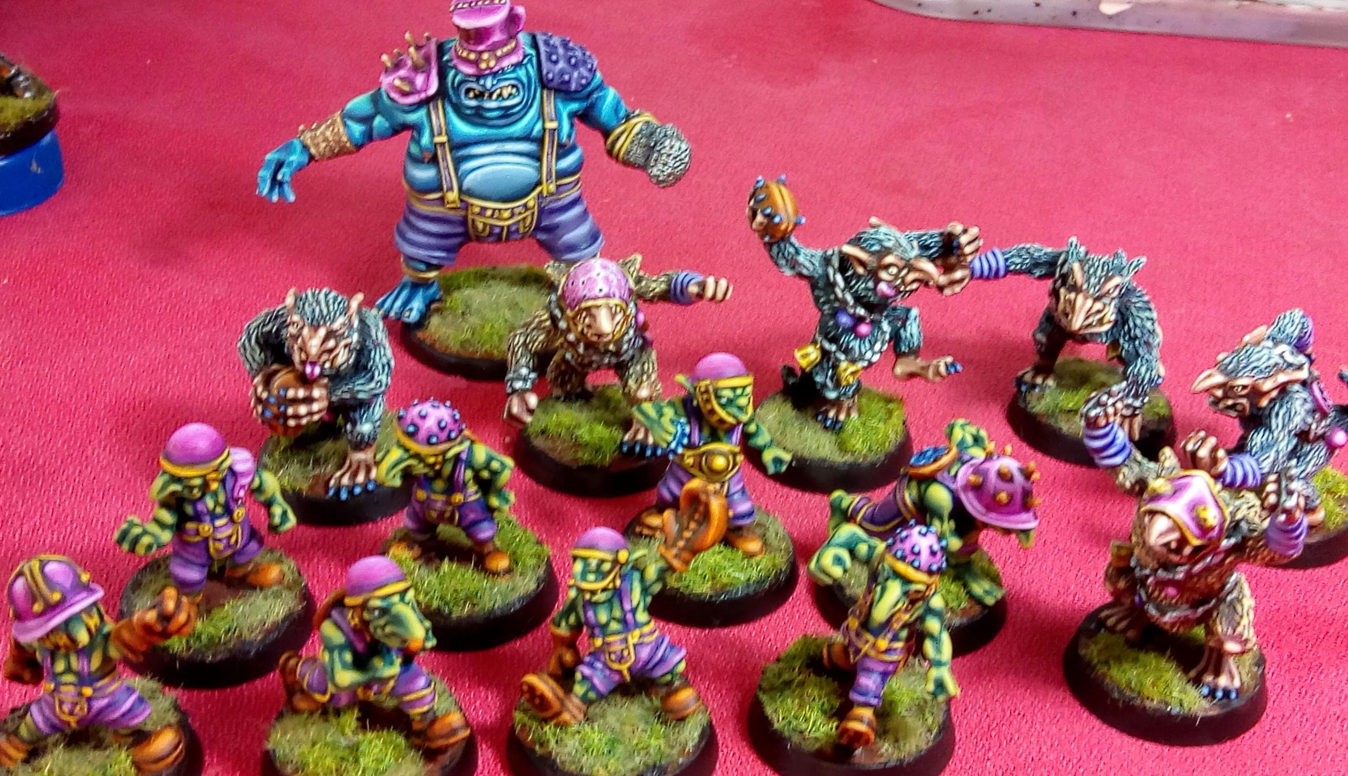 Blood bowl, greebo. Underworlds team