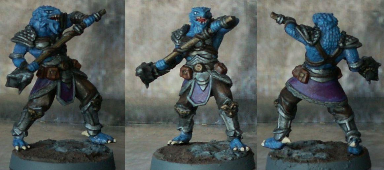 Blue Dragonborn Fighter