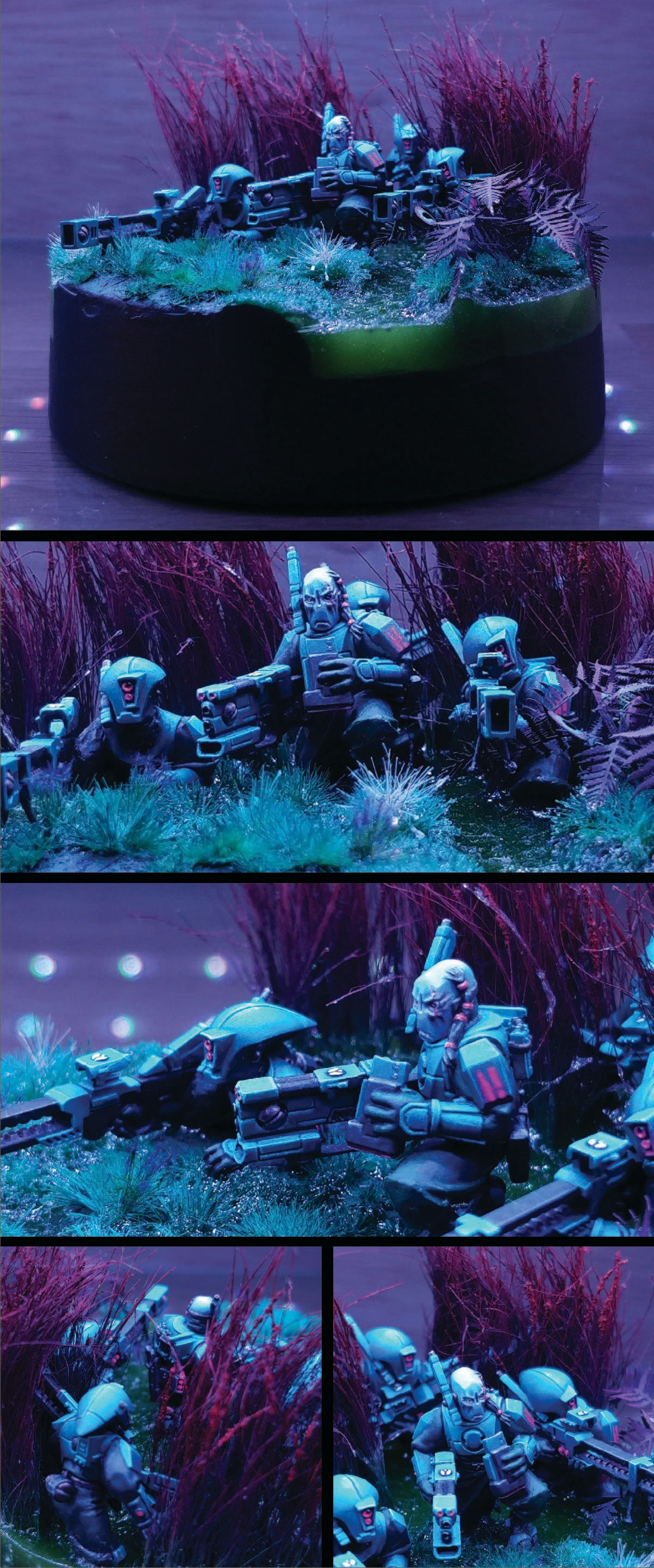 Diorama of Tau Pathfinder sniper team