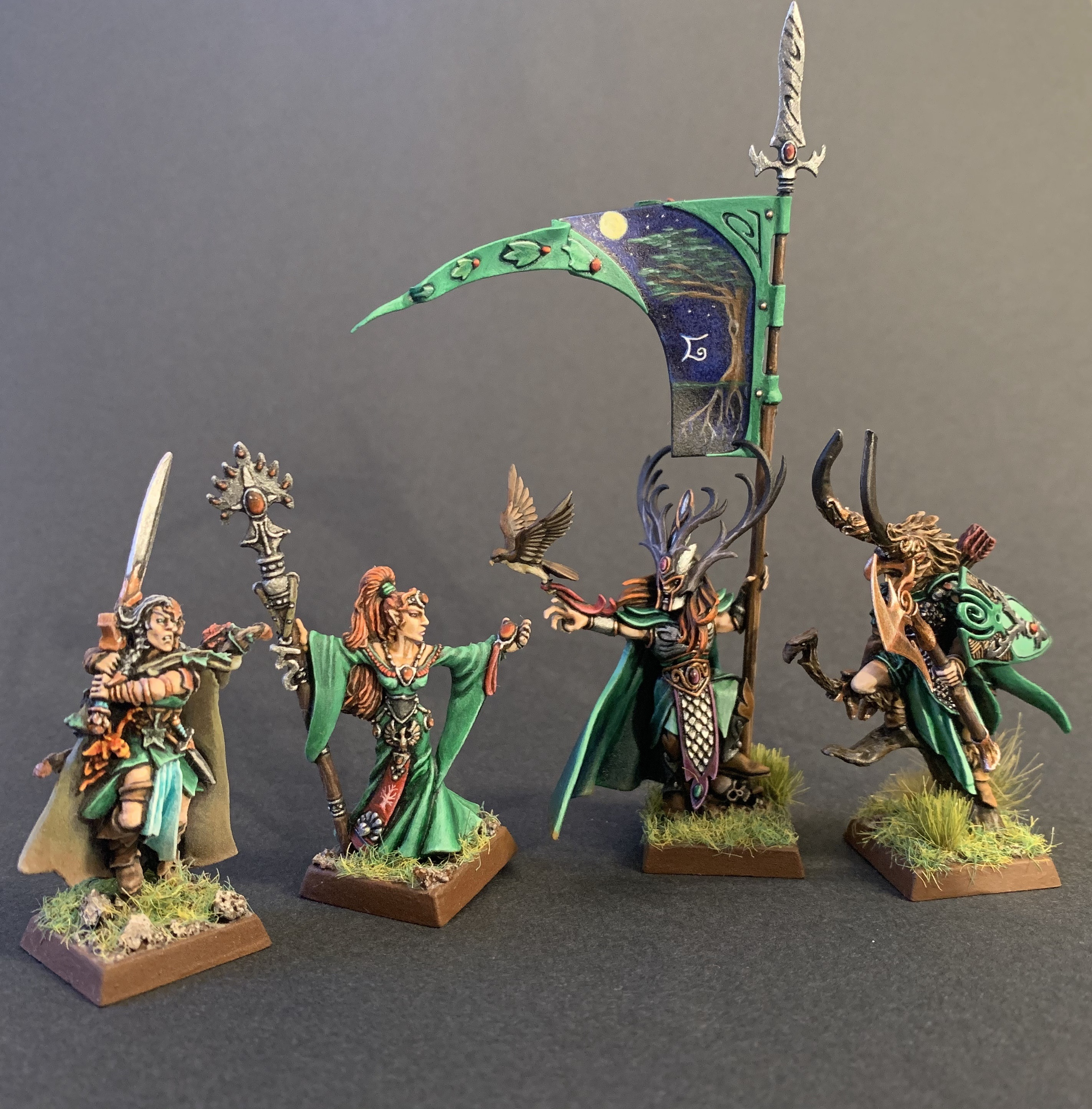 Wood elf command - standard, queen, and lords