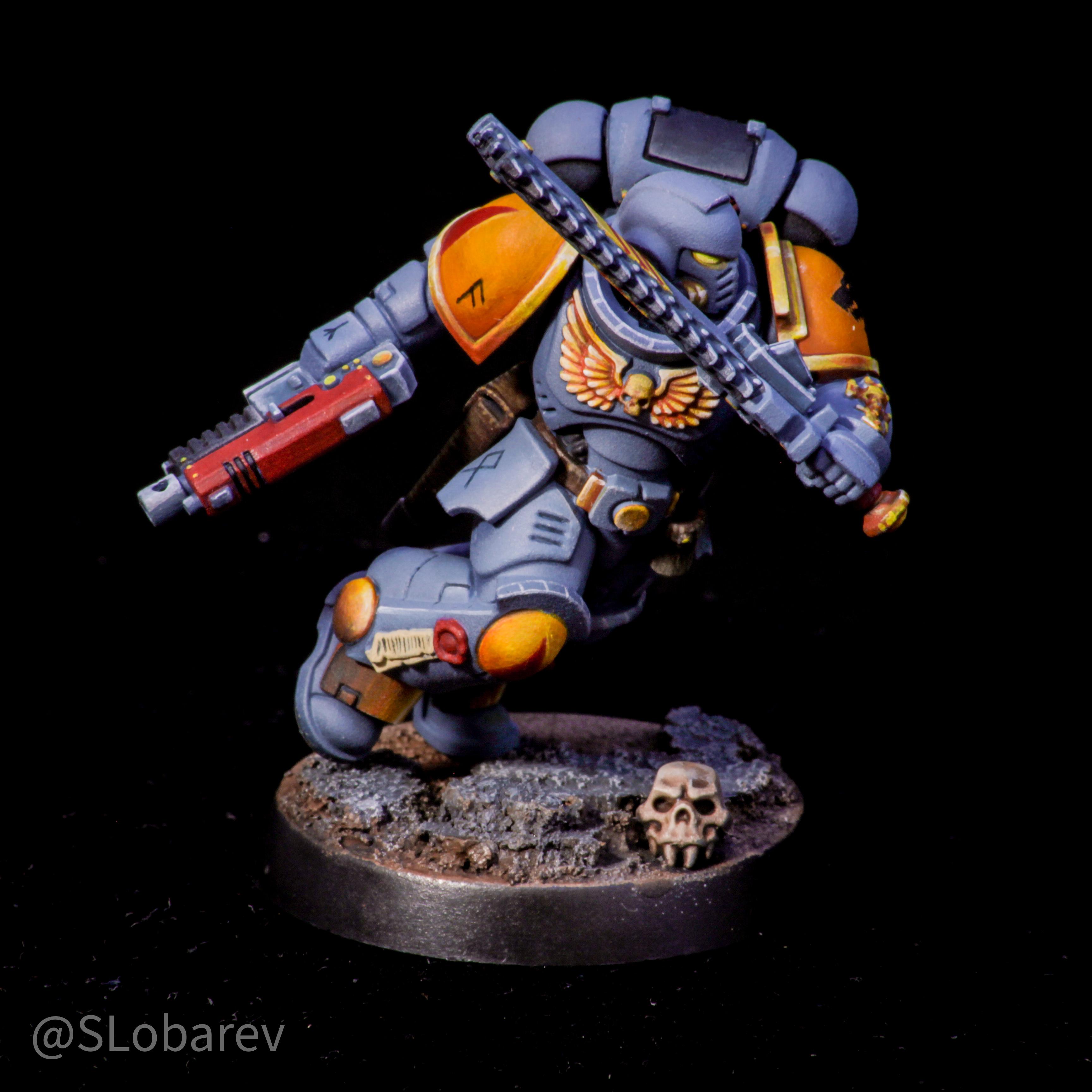Space Wolves Assault intercessor sergeant