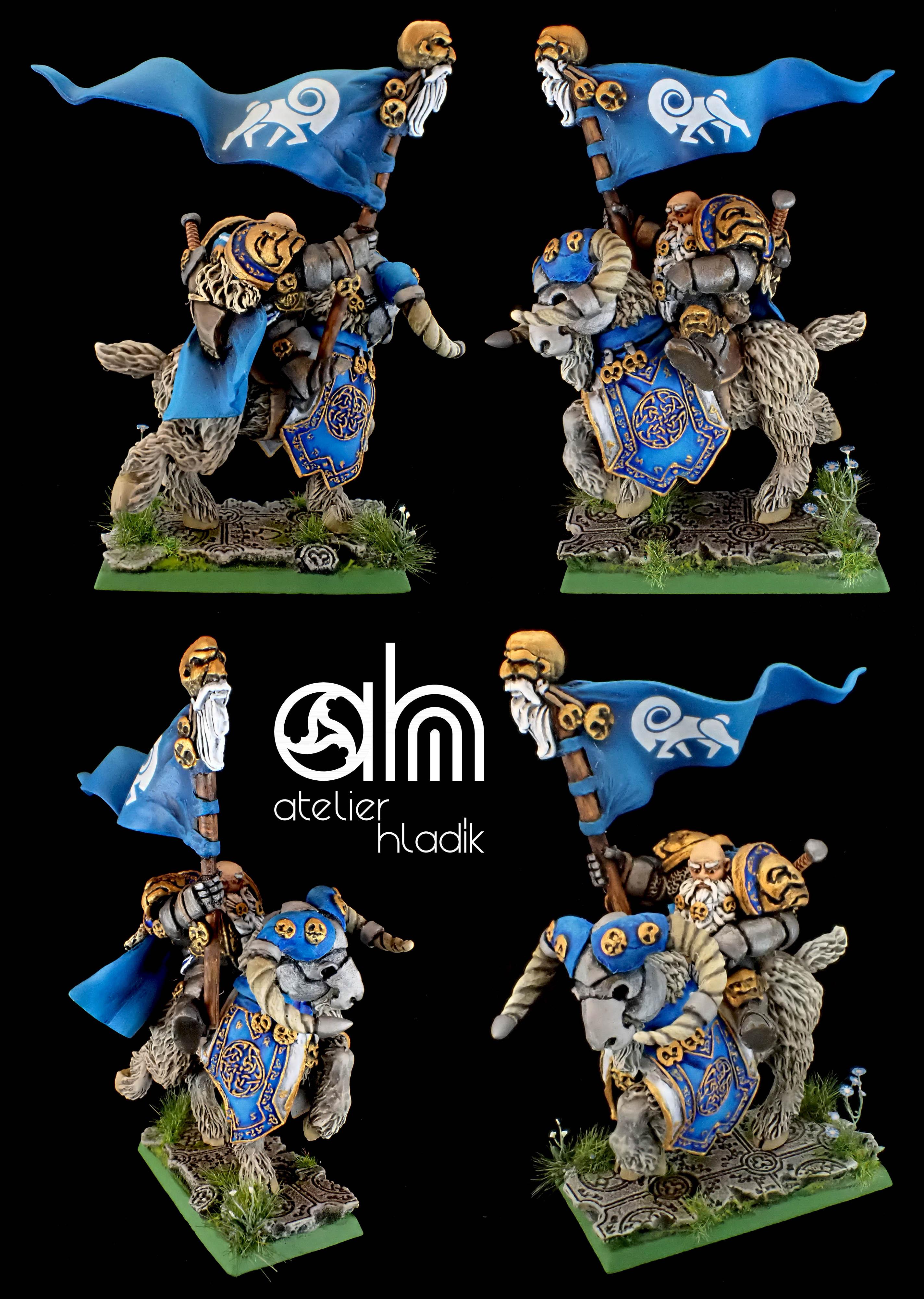 Dwarf standard on mountain ram AH