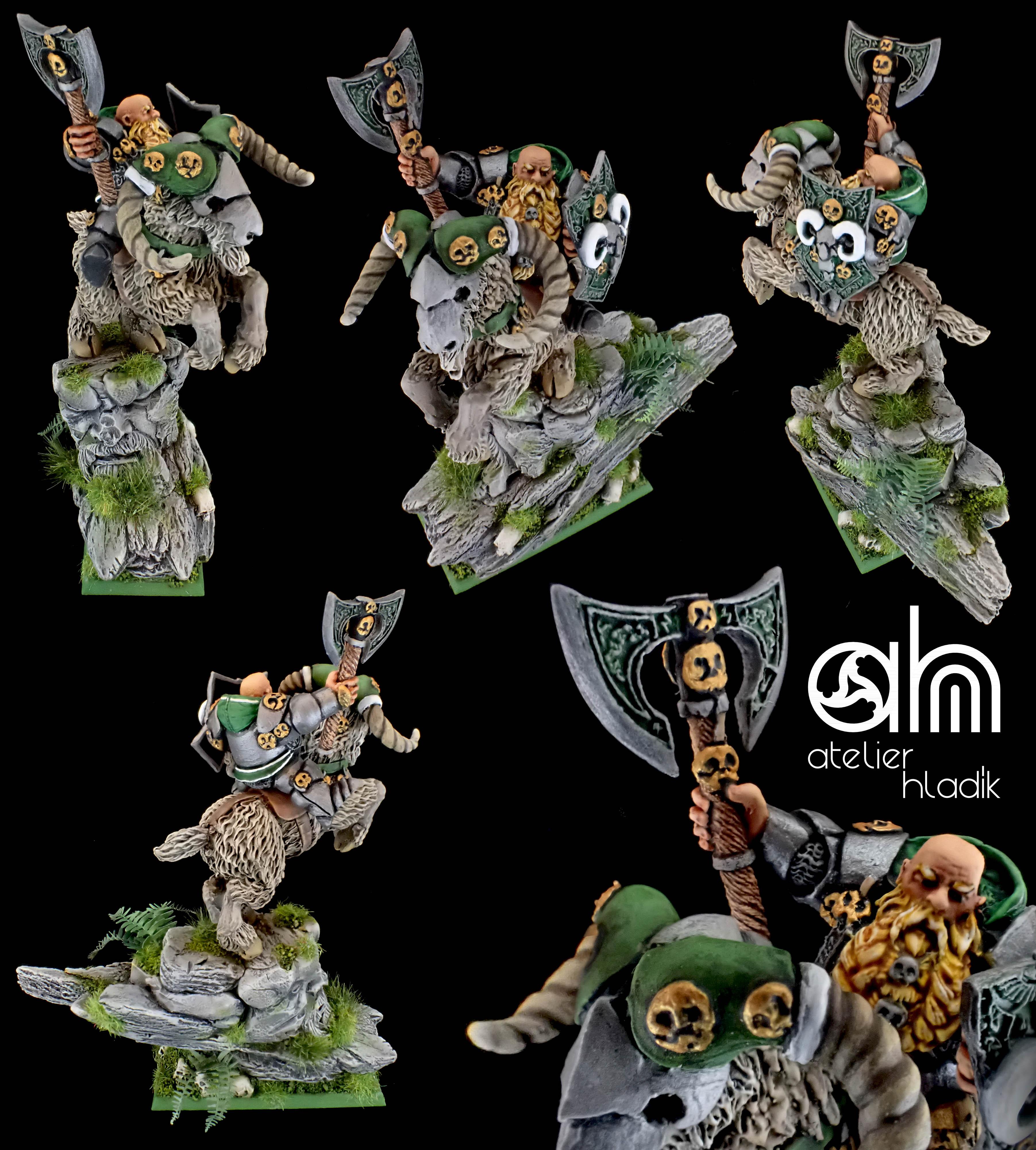 Dwarf lord on mountain ram AH