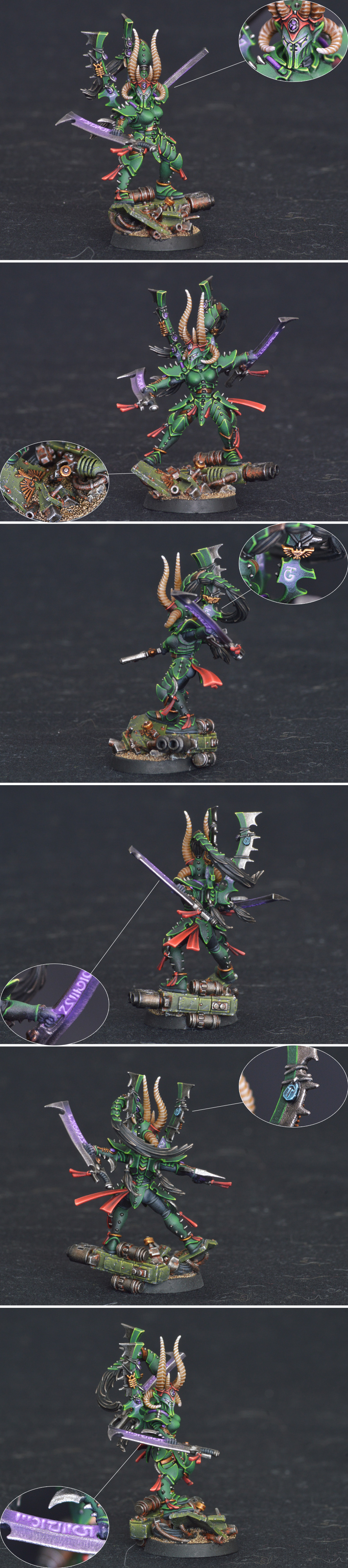 Dark eldar female master of blades - Drazhel (Drazhar)