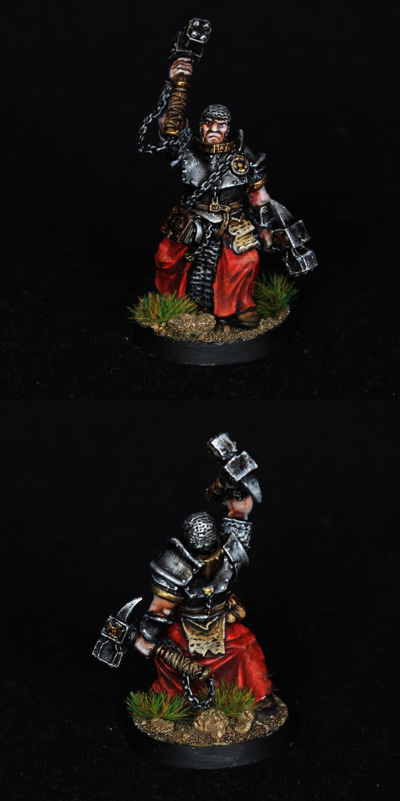 Warrior Priest with two hammers