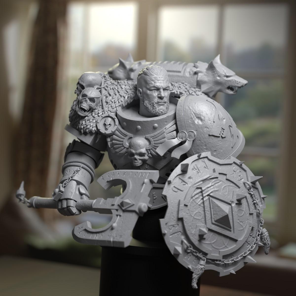 Bjorn - Space Wolves - Sculpt