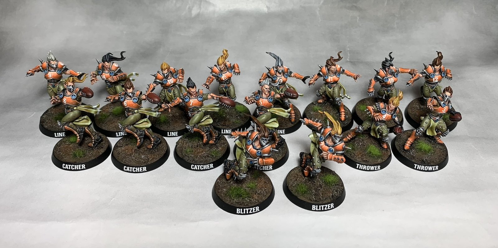 Elven union team for Bloodbowl