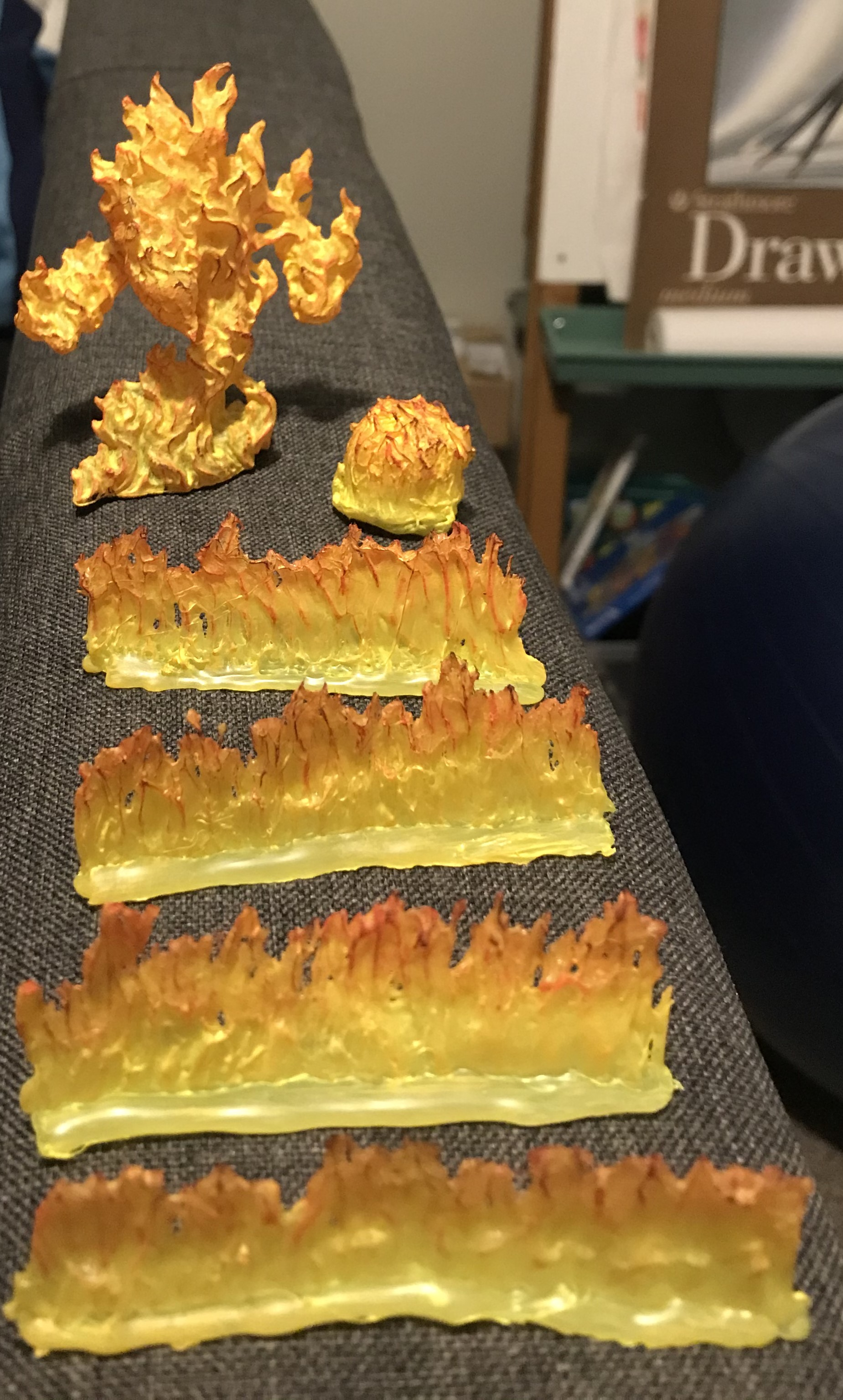 Large Fire Elemental & Self Sculpted Fire