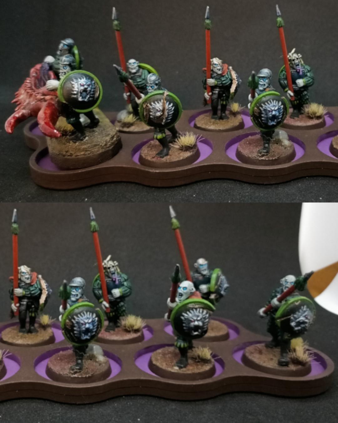 unidad de necrófagos lanceros / spear ghoul unit
