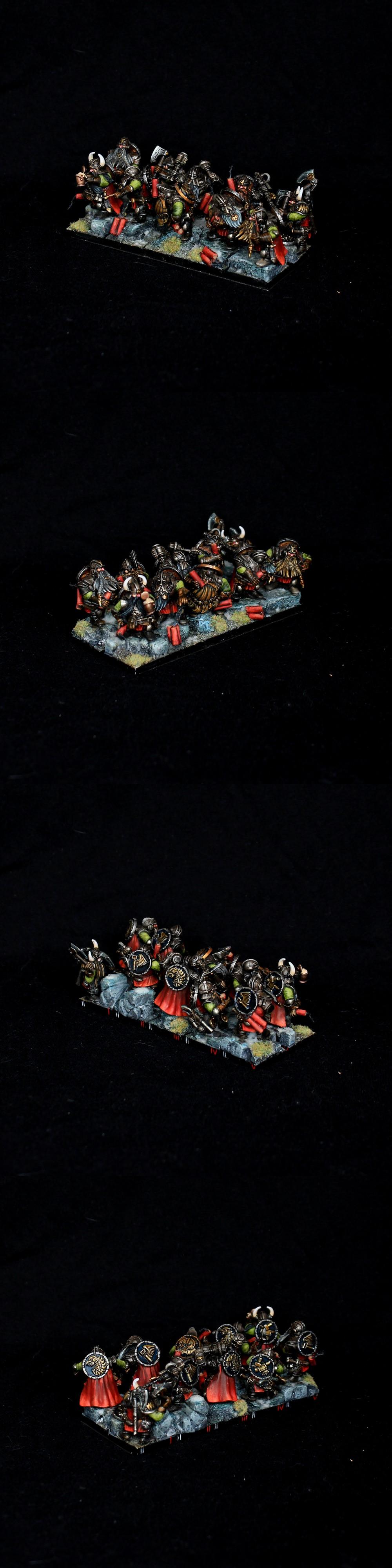 Dwarf Warriors / Miners Duardin Warhammer Dwarfs
