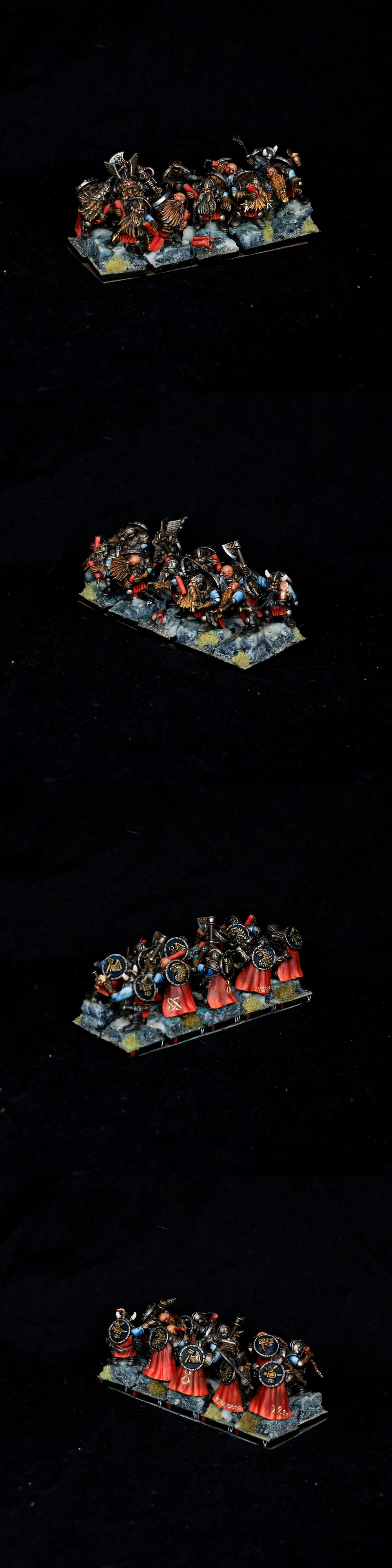 Dwarf Warriors / Miners Duardin Warhammer