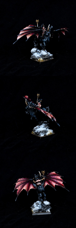 Dark Elves Sorceress on Dark Pegasus
