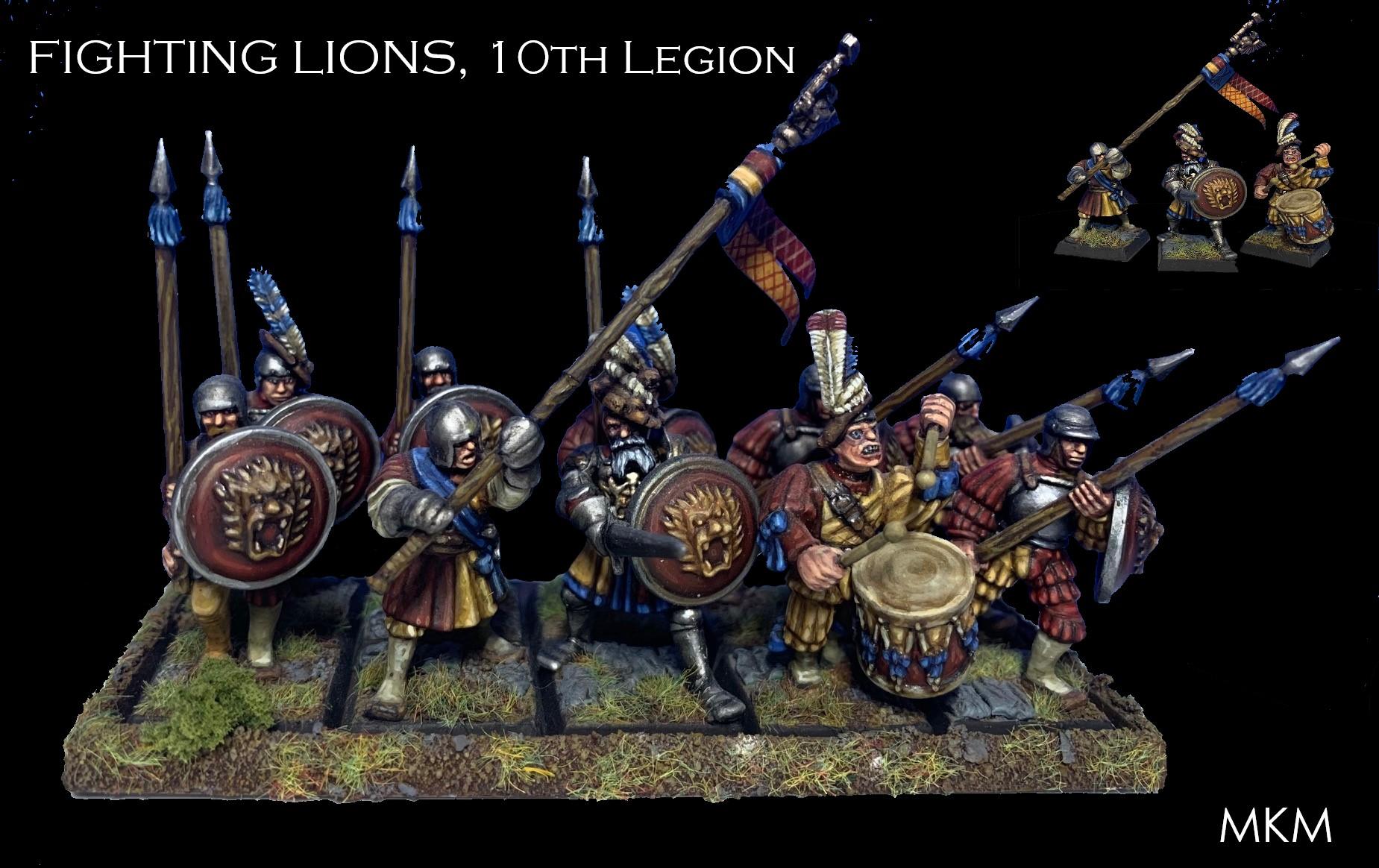 FIGHTING LIONS, 10th Legion, Empire Spearmen