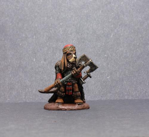 Dark Sword Basset Hound Warrior
