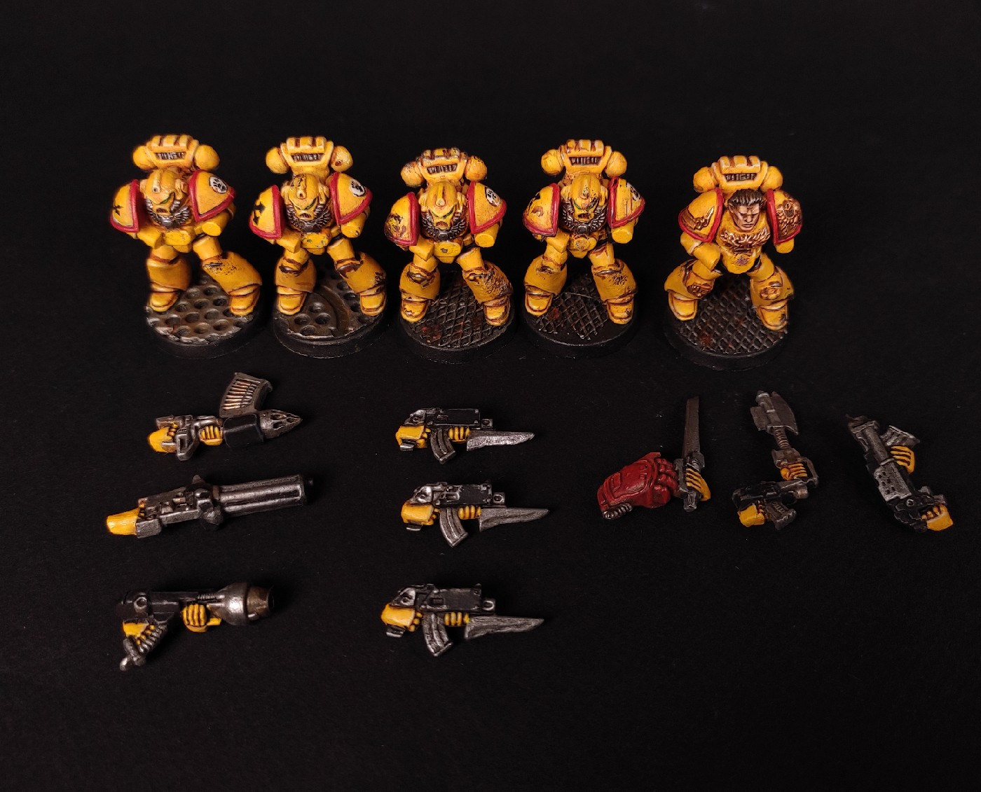 Imperial Fist Space Marine magnetized