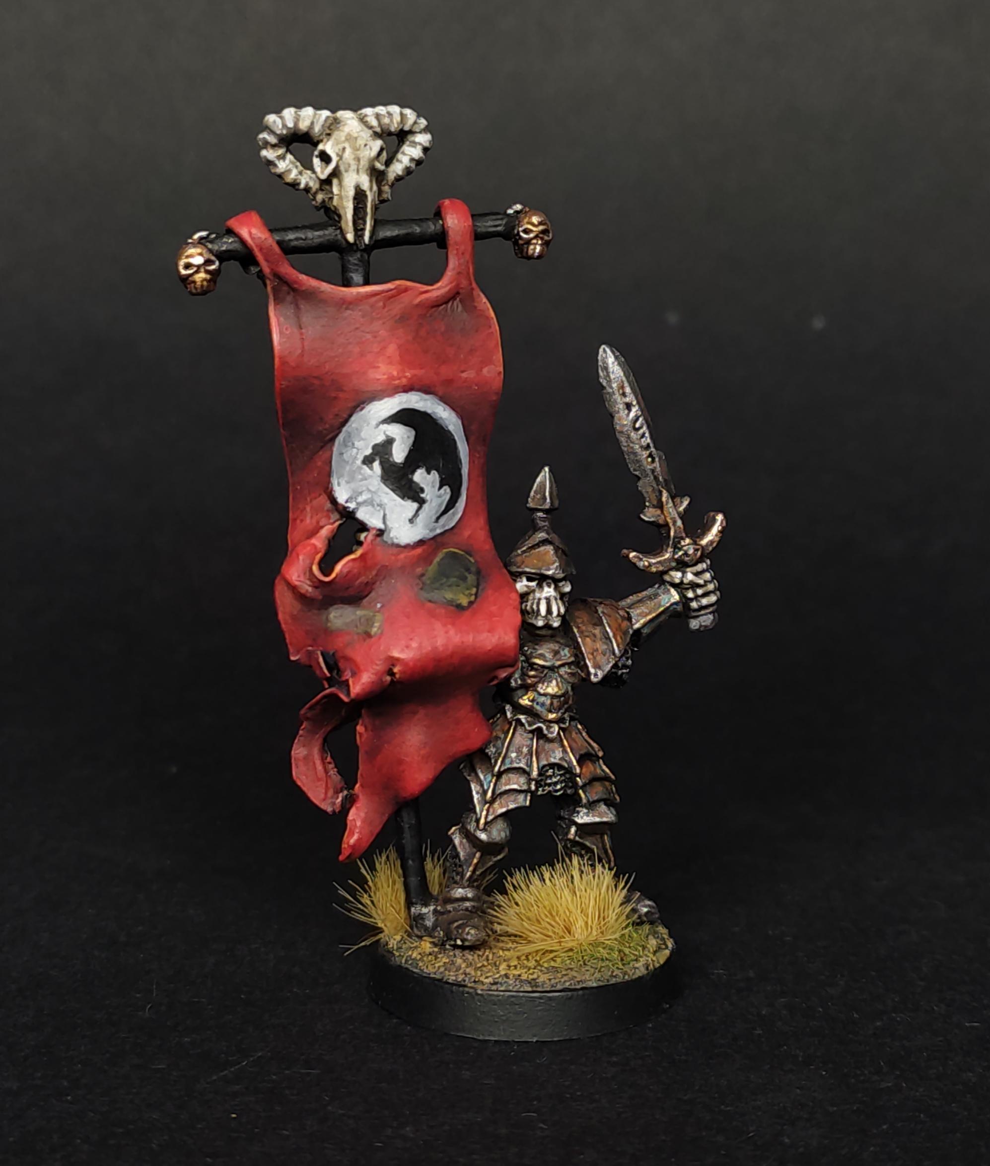 skeleton warrior standard bearer