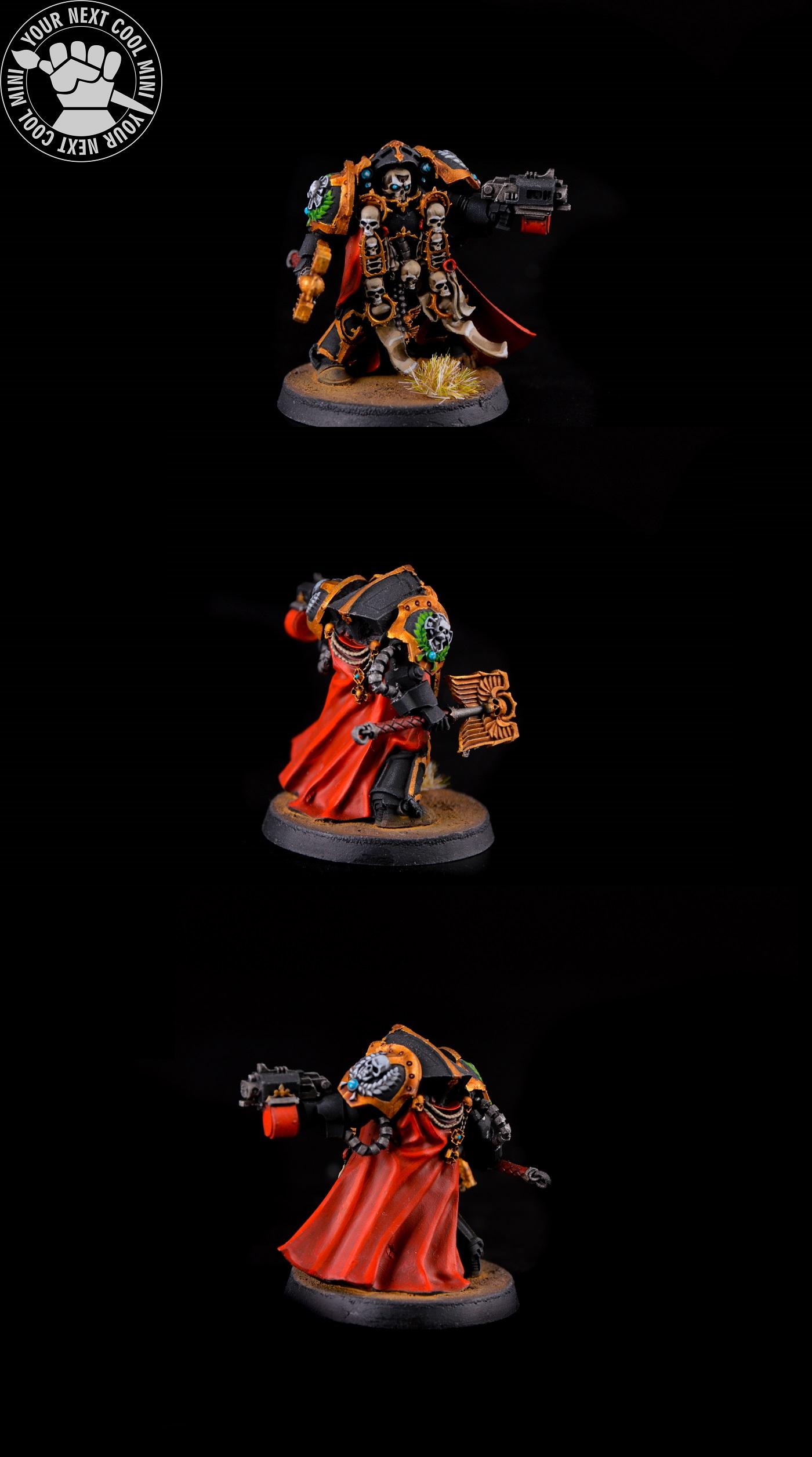 Warhammer 40k chaplain in termo armor