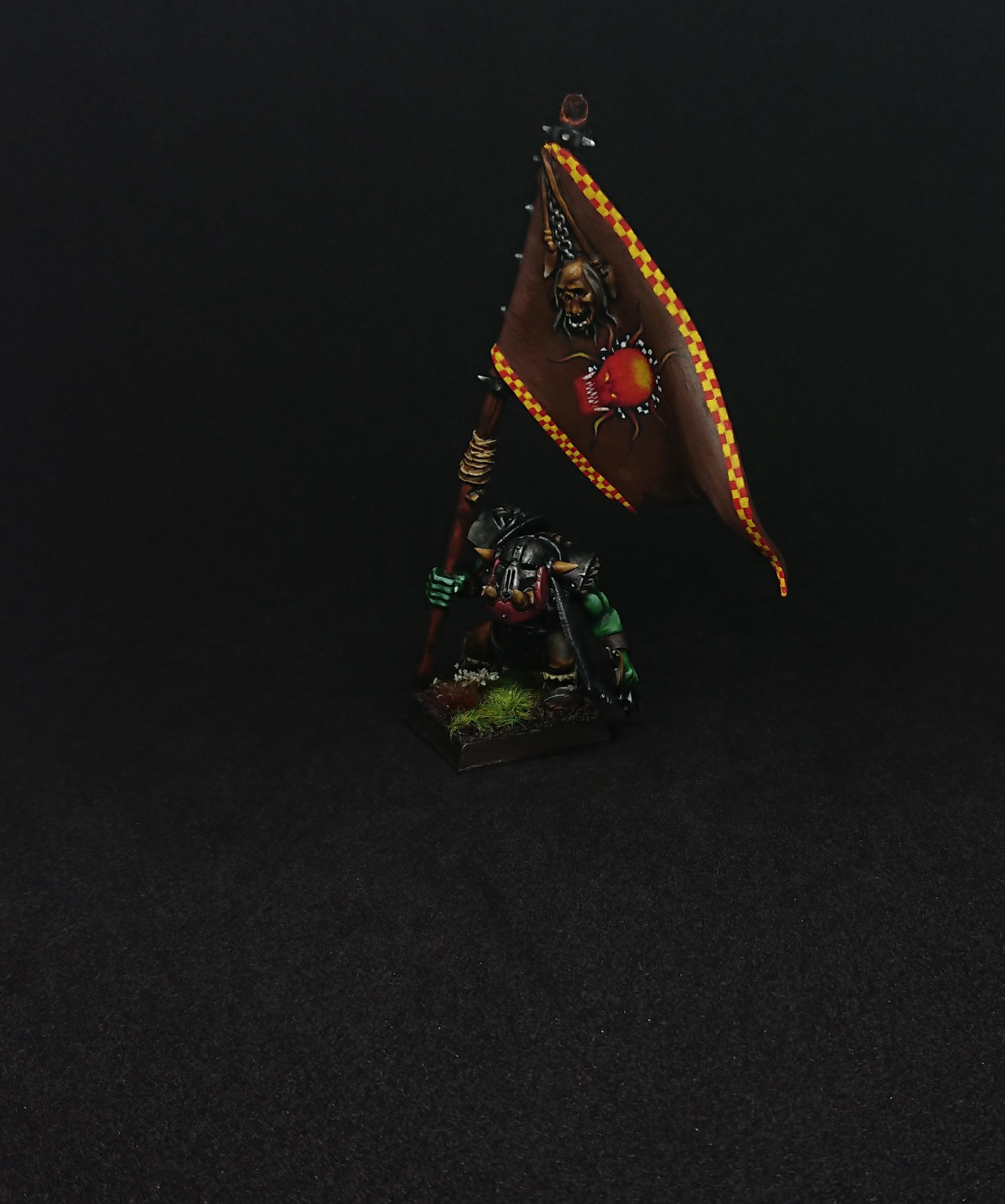 Warhammer Black Ork Battle Standard
