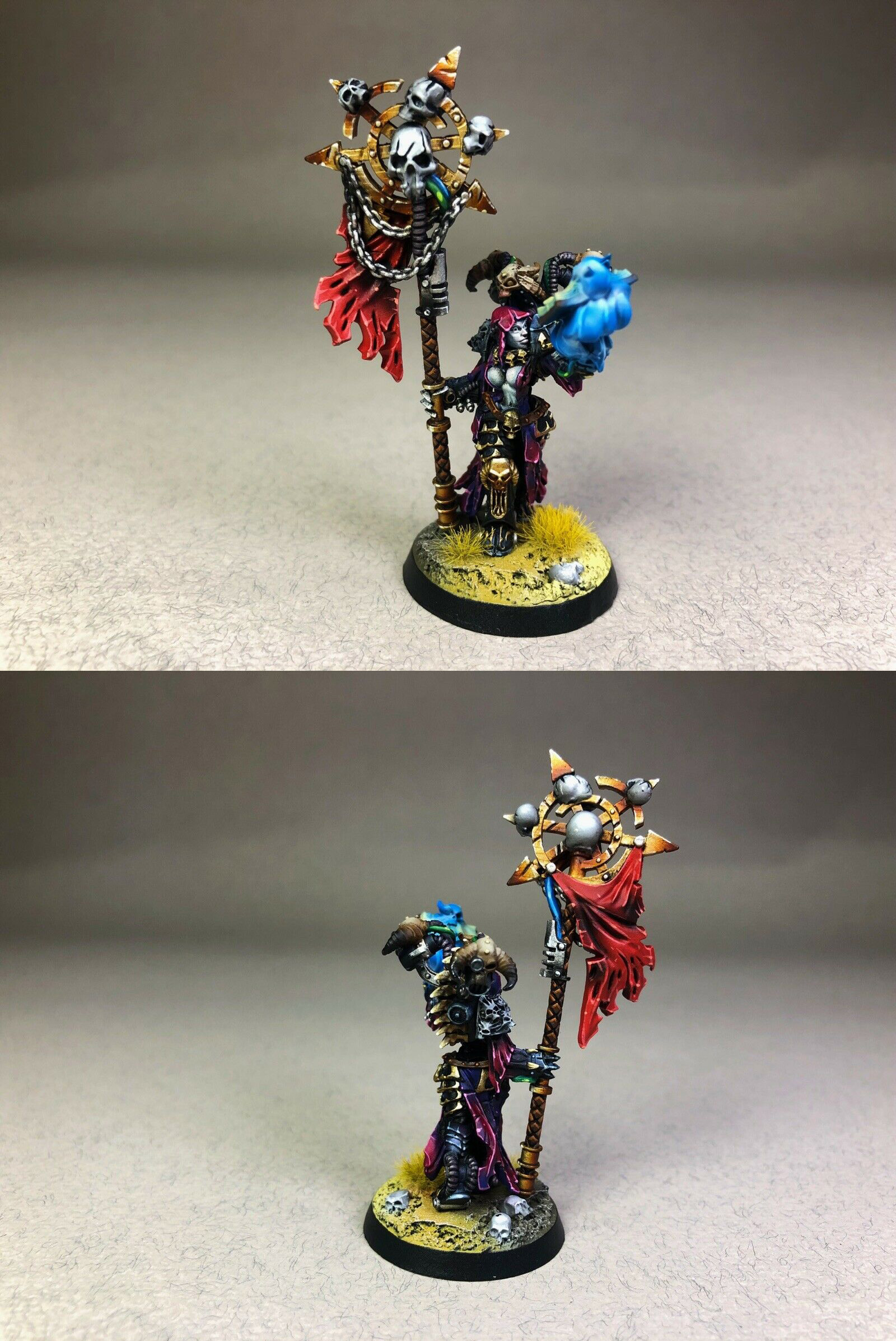 Chaos Space Marines Sorcerer Pin-up