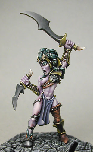 Warhammer Painted Rare Unreleased Witch Elf