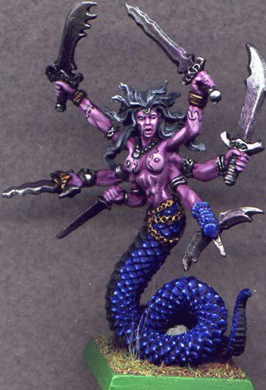 Snake Demon 1 Vandorendra Miniature