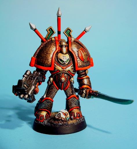 Chaos Marine Terminator - the Red Right Hand