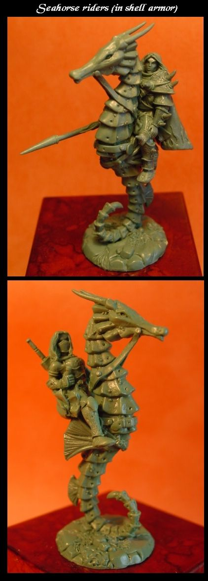 Seahorse riders (in shell armor)