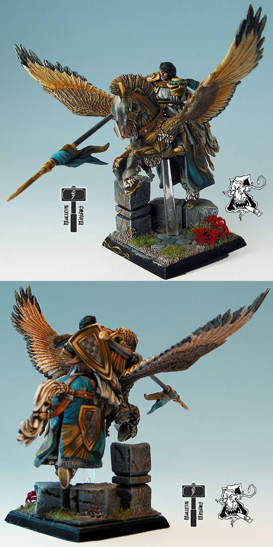 Coolminiornot Bretonnian Hero On Pegasus By Demon Color