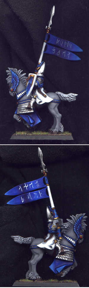 High Elf Silver Helms Standard Bearer