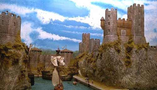 Castle and harbor