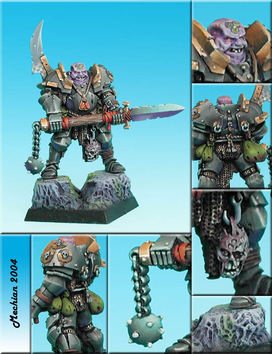 Chaos Nurgle lord with realy strange weapon Iv.3