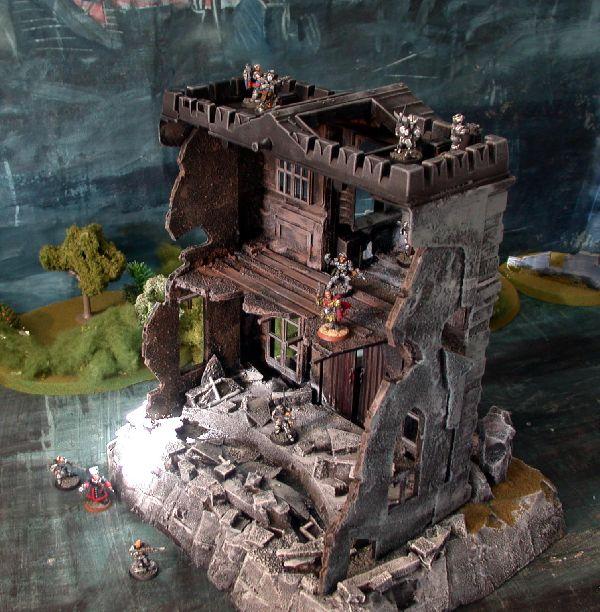 Gothic Manor ruin rear view BY praetorian0_1