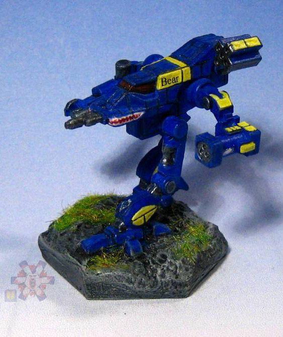 Battletech Bushwacker Mechcommander In The Blue Yellow Paint Scheme