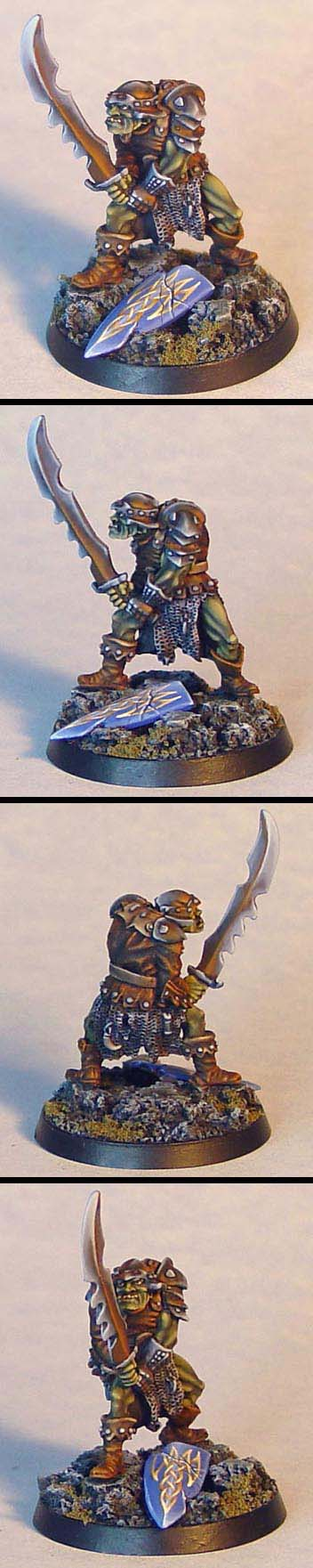 Ral Partha orc on sculpted base by James