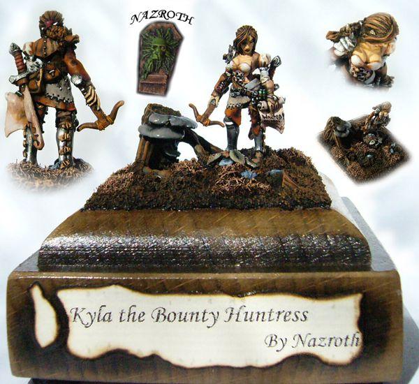 Kyla Bounty Hunter on LARGE BASE by Nazroth