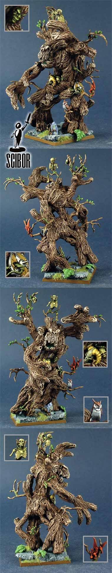 WARHAMMER Wood Elf Treeman CONVERTED and PAINTED