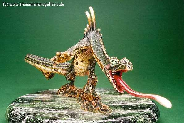 CoolMiniOrNot - Nemo, Reptaar swamp dragon, painted with