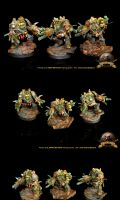 CSM Nurgle Obliterators squad by ILNANONEFASTO Painting Studio