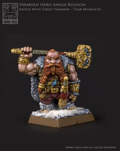 Dwarven Hero Angus with Great Hammer - Thar Morga'th